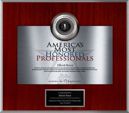 Americas Most Honored Professionals Award