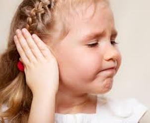 little girl with ear ache