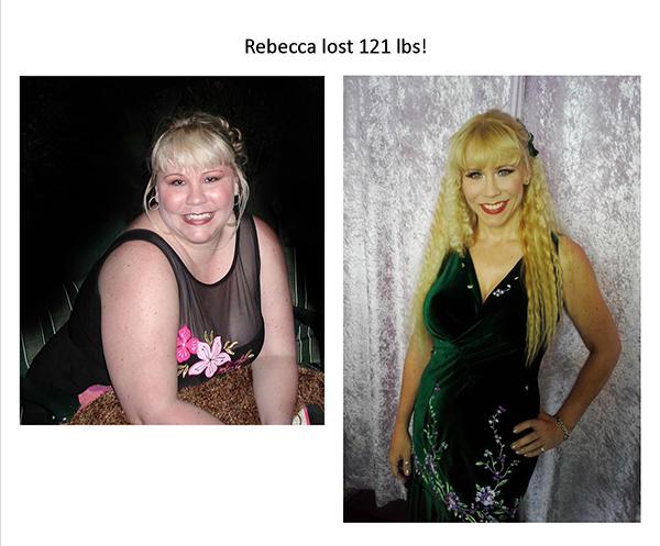 rebecca lose 121 pounds