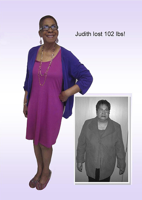 judith lost 102 pounds