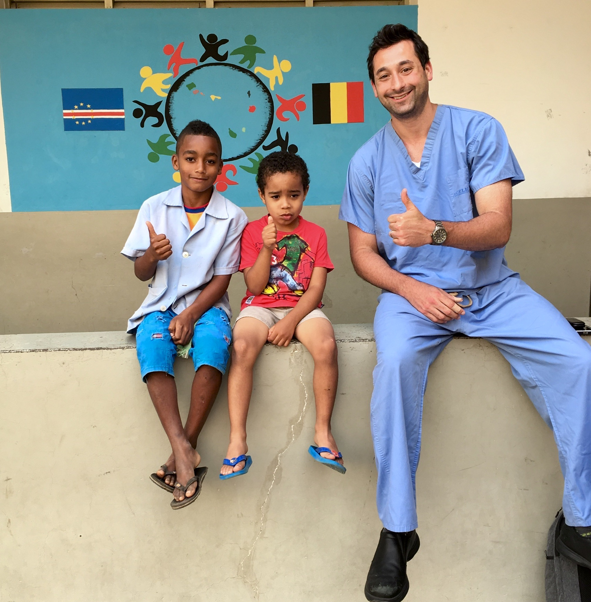 Dr  Adam visited the children of Cape Verde on a dental outreach