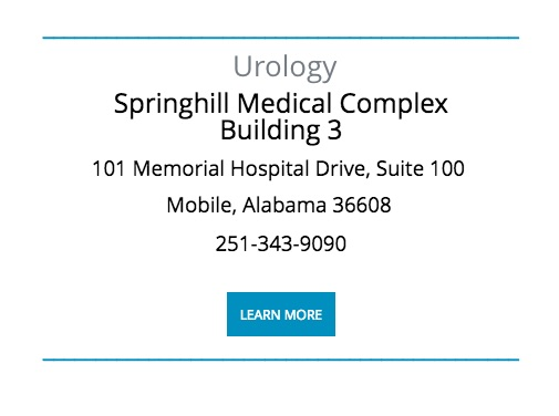 Urinary Tract Infection (UTI) Specialist - Mobile, AL: Urology