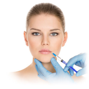 woman recieving botox