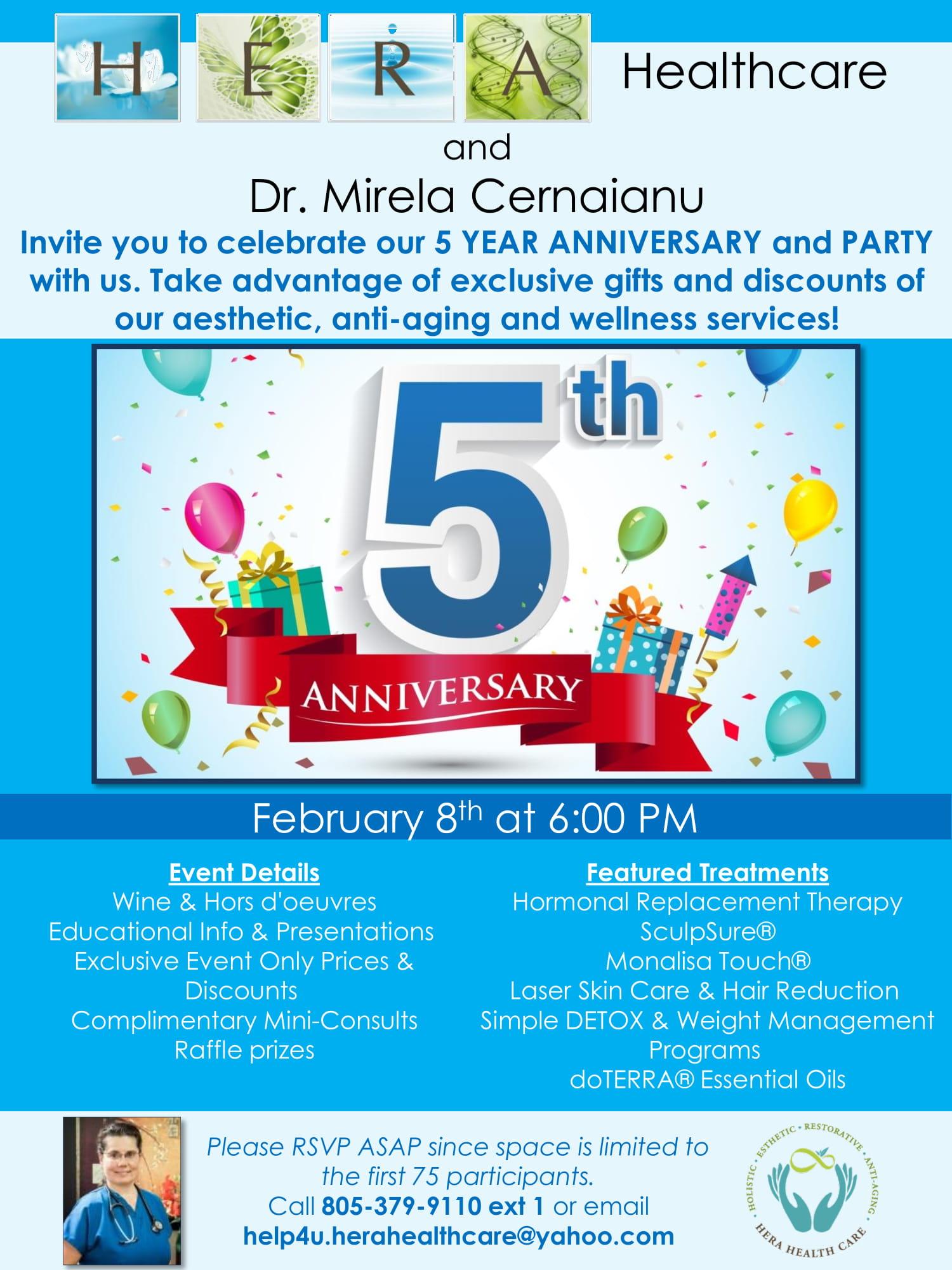 Mirela cernaianu md integrative and holistic womens health 5 year anniversary party xflitez Choice Image